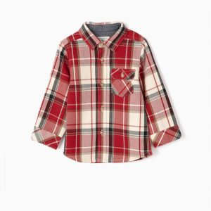 Camisa a cuadros ajedrez bebé