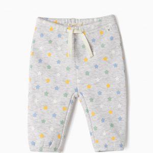 Pantalón gris con estrellitas