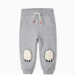 Pantalón chándal huella oso gris