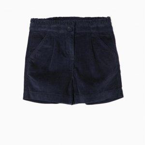 Short pana azul marino para niña