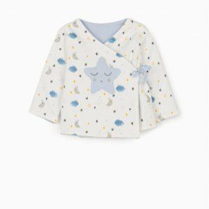 Chaqueta reversible newborn azul/blanca