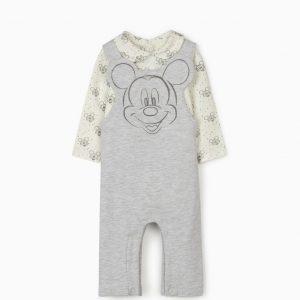 Conjunto de peto y body Mickey newborn