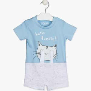 Pelele corto azul Cat