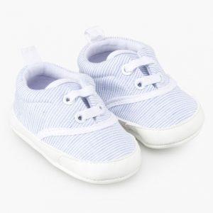 Zapatillas de rayas para recién nacido soft