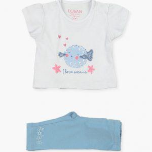 Conjunto de camiseta y leggins Oceans