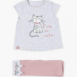 Conjunto de camiseta y leggins Cat