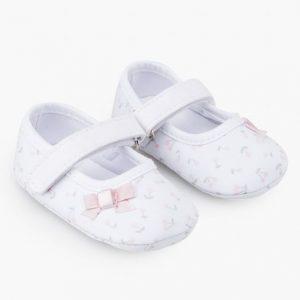 Zapatillas de cerezas para recién nacida soft
