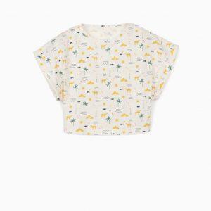 Camiseta corta de algodón orgánico Camels