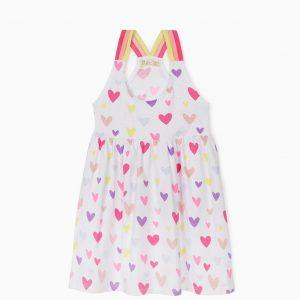 Vestido de punto corazones