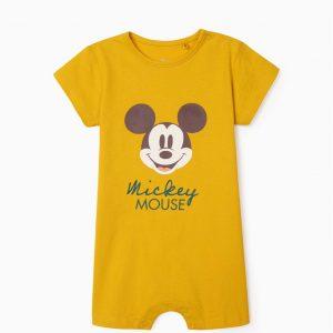 Pelele algodón orgánico Mickey
