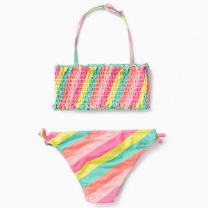 Bikini rayas multicolor con protección solar