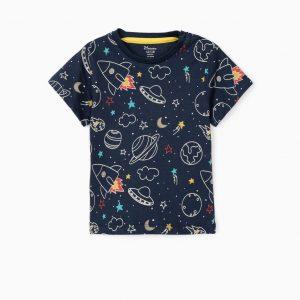 Camiseta bebé espacio