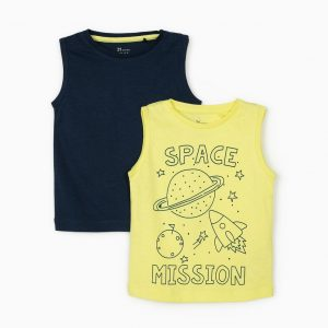 Pack 2 camisetas tirantes Space mission