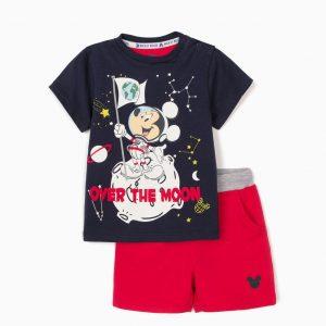 Conjunto camiseta y bermuda Mickey Luna