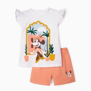 Pijama algodón orgánico Minnie bebé