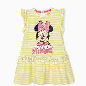 Vestido rayas lima bebé Minnie