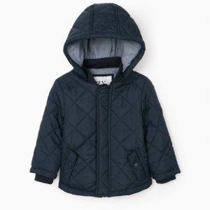 Chaqueta acolchada con capucha desmontable azul oscuro bebe niño